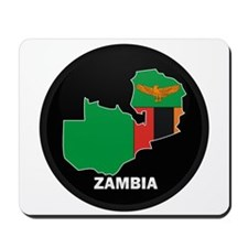 Flag Map of Zambia Mousepad
