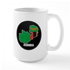 Flag Map of Zambia Mug