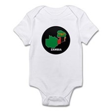 Flag Map of Zambia Infant Bodysuit