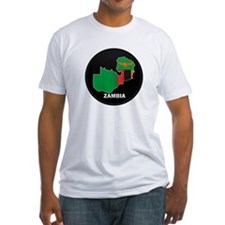 Flag Map of Zambia Shirt