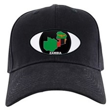 Flag Map of Zambia Baseball Hat