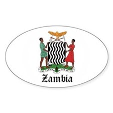 Zambian Coat of Arms Seal Oval Decal