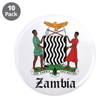 "Zambian Coat of Arms Seal 3.5"" Button (10 pack)"