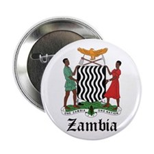 "Zambian Coat of Arms Seal 2.25"" Button"