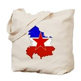 Yugoslavia Flag Map Tote Bag