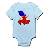Yugoslavia Flag Map Onesie