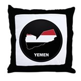 Flag Map of yemen Throw Pillow
