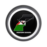 Flag Map of Western Sahara Wall Clock