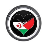 I love Western Sahara Flag Wall Clock