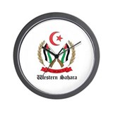 Sahrawi Coat of Arms Seal Wall Clock