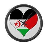 I Love Western Sahara Large Wall Clock