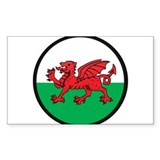 Welsh Island Rectangle Decal