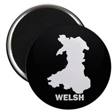 Flag Map of Welsh Island Magnet