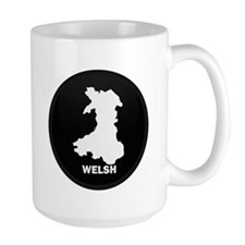 Flag Map of Welsh Island Mug