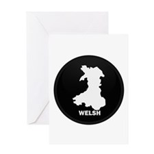 Flag Map of Welsh Island Greeting Card