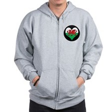 I love Welsh Island Flag Zip Hoodie