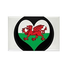 I love Welsh Island Flag Rectangle Magnet