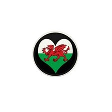 I love Welsh Island Flag Mini Button