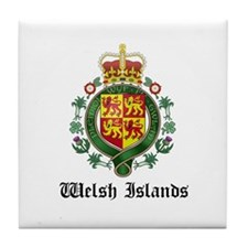 Welsh Coat of Arms Seal Tile Coaster