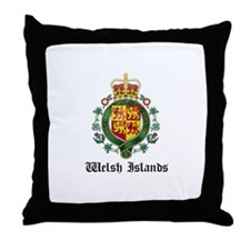 Welsh Coat of Arms Seal Throw Pillow