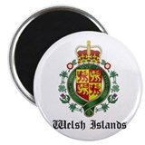 Welsh Coat of Arms Seal 2.25&quot; Magnet (10 pack)