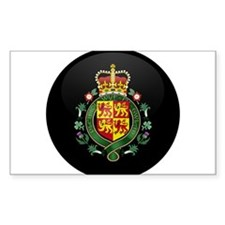 Coat of Arms of Welsh Island Rectangle Decal