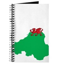 Welsh Island Flag Map Journal