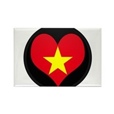 I love Vietnam Flag Rectangle Magnet