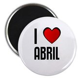 "I LOVE ABRIL 2.25"" Magnet (10 pack)"