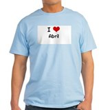 I LOVE ABRIL Ash Grey T-Shirt
