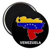 Flag Map of Venezuela Magnet