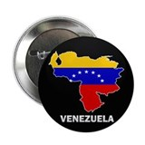 "Flag Map of Venezuela 2.25"" Button"