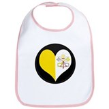 I love Vatican City Flag Bib
