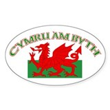 Wales for Ever Oval Stickers