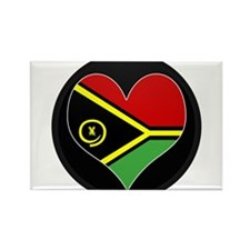 I love vanuatu Flag Rectangle Magnet