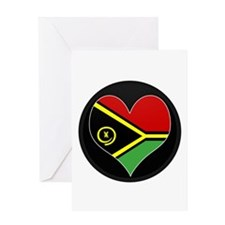 I love vanuatu Flag Greeting Card
