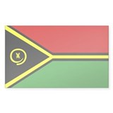 vanuatu Flag Rectangle Sticker 50 pk)