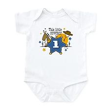 Little Cowboy 1st Birthday Infant Bodysuit