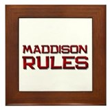 maddison rules Framed Tile