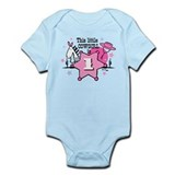 Little Cowgirl 1st Birthday Onesie