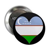"I love Uzbekistan Flag 2.25"" Button"