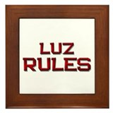 luz rules Framed Tile