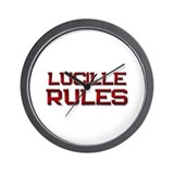 lucille rules Wall Clock