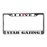I Love Star Gazing License Plate Frame