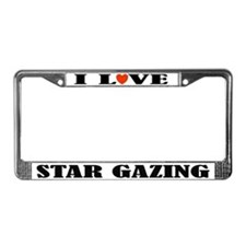 I Love Star Gazing License Plate Frame