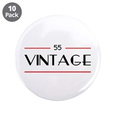 "55th Birthday Vintage 3.5"" Button (10 pack)"
