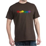 Rainbow Skulls Black T-Shirt