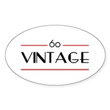 60th Birthday Vintage Oval Decal