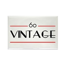 60th Birthday Vintage Rectangle Magnet (10 pack)