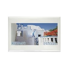 Mykonos Island Rectangle Magnet